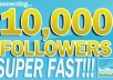 give you 10,500++ [Staying and Safe] twitter followers to your page in 24 hours