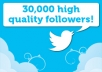 give you 25,00-30,000 *Stay for lifetime* Twitter followers in the best quality that you can get (twitter expert)