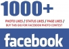 give 5000 facebook Photo likes or Vote on Any facbook updates/photo without admin access within 24 hours