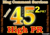 *do Manual 45 Highpr Backlinks 2PR7 4Pr6 9Pr5 10Pr4 10 Pr3 10 PR2 Blog Comment Dofollow on Actual Page 