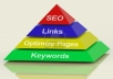 build two tier link pyramid with over 60 web 2,0 and over 19000 wiki backlinks