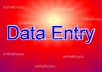 do any type of data entry work for you