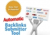 //Give you Automatic Backlinks submitter tool