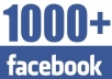 Give u 1000+ Active High Quality Staying Facebook Fanpages Likes