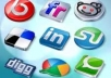 do social bookmarking 15 digg , 50 delicious, 20 stumbleupon, 10 folkd for your site