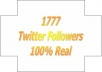 give you 1777 Twitter Followers, 100% Real &amp; Genuine