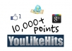 sell youlikehits account with 10000+ points