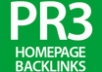 give you 3 PERMANENT PR3 DoFollow Homepage Links