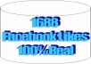 give you 1688 Facebook Likes, 100% Real