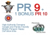 manually create 20 PR 9 backlinks from 20 different PR 9 high authority sites including 1 bonus PR10 link, boost your rankings,Trusted Seller