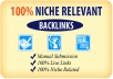 Create 20 Niche Related Blog Comments/Backlinks just