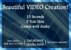 create a beautiful MUSIC theme intro VIDEO
