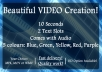 create a beautiful intro VIDEO