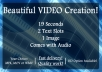 create this GREAT professional intro for your show or event