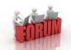 write 30 top quality, all manual forum posts