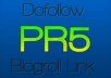 give you a PR5 Health Related DoFollow Homepage Link