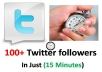 add more than 100+ Real Human Twitter followers in just 15 Minutes