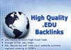 Give You 50 Premium EDU Backlink Packages 