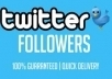 give you High quality 1331+ Twitters Followers on you website