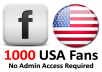 give you 1000+ USA Facebook fans WITHOUT Admin access