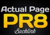 give you a 20 Pr8 Backlinks Method