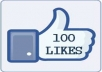 send 100 facebook likes from the USA, 100 facebook fans, no need admin access