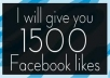 give you 1500+ USA Real looking Facebook Likes / Fans Guaranteed to your Fanpage
