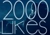 Give u 2000+ Staying High Quality Facebook Photo/ Fanpages Likes.