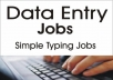 Data Entry 3 hours for 5$