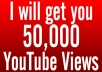 I will give you 50,250 Youtube views fast guaranteed