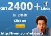 Real 2400++ High Quality Facebook Likes on you website