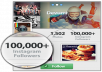 give you 1,00,000+ AUTHENTIC Permanent Instagram Photo / Image Likes within 24hours