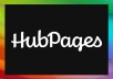 Provide You A Very High Quality Hubpages Backlinks