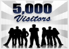 send 5000 unique visitor to your website for only