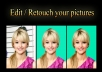 Edit / retouch / remover backhroung of your 2 pictures