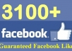 I will give 3100+ [PERMANENT] Facebook likes to your facebook fanpage,likes in 24 hours