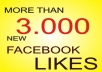 MORE THAN 3.000 PERMANENT FACEBOOK LIKES