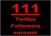 I will add More Than 111+ Followers on Your Twitter Account in Maximum 48 Hours 