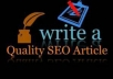 write a High Quality SEO Article up to 400 words on Time Delivery or its FREE ***SAMPLE PROVIDED upon request***