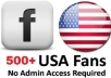 give You 500+ USA Facebook fanpage Likes Within 24 Hours