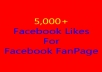 Give You 5000+ Real FACEBOOK Likes(Facebook FanPage) Without Admin access
