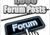 *create 1200+ high pr dofollow backlinks from forum posts, supply report + submit to linklicious pro 