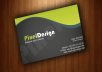 create you a double sided creative and attractive business cards