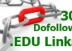 create 30 dofollow EDU links with complete report, all links submitted to rss and pinger sites @!