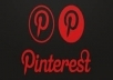 Promoted you REAL 750+ Pinterest Followers on you account