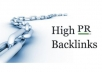 Significantly Boost Your Site Ranking By Building 8 High PR Backlinks