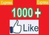 give 1000+ [PERMANENT] Facebook Photo likes / Post Likes / Facebook fanpage Likes in 24 hours