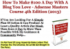 I will give you Adsense Masters Course - All 4 Course to make More Than 100 $ per day