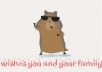 I will create a video of an Hamster dancing on gangnam style song displaying your message @!