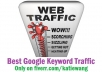 I will send you 3000+ Google Keyword targeted traffic with Guarantee @!